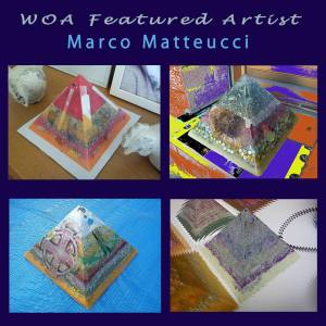 Marco Matteucci WOA Tribute, Art Energy by Marek Sheran, beeswax orgonite