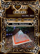 Orgonite Orgone Art award, working beeswax for orgonite by Marco Matteucci aka Marek Sheran