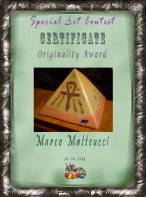 Orgonite Orgone Art award, working beeswax for orgonite by Marco Matteucci aka Marek Sheran